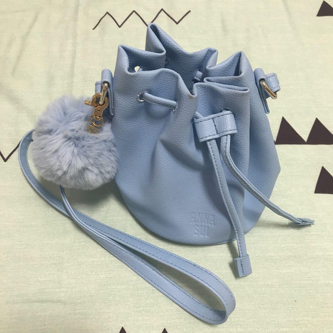 92253ada3a Anna Sui Blue Mini Bucket Bag, Women's Fashion, Bags & Wallets ...