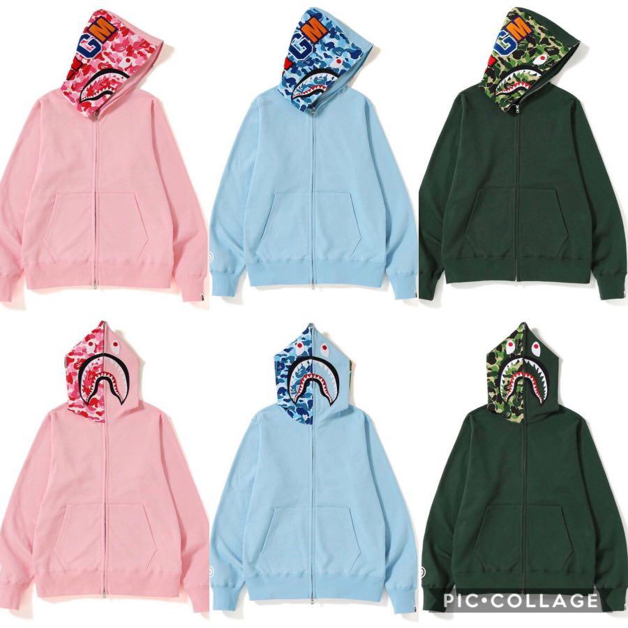 4d227370 Bape Abc Shark Full Zip Hoodie, Men's Fashion, Clothes, Outerwear on ...