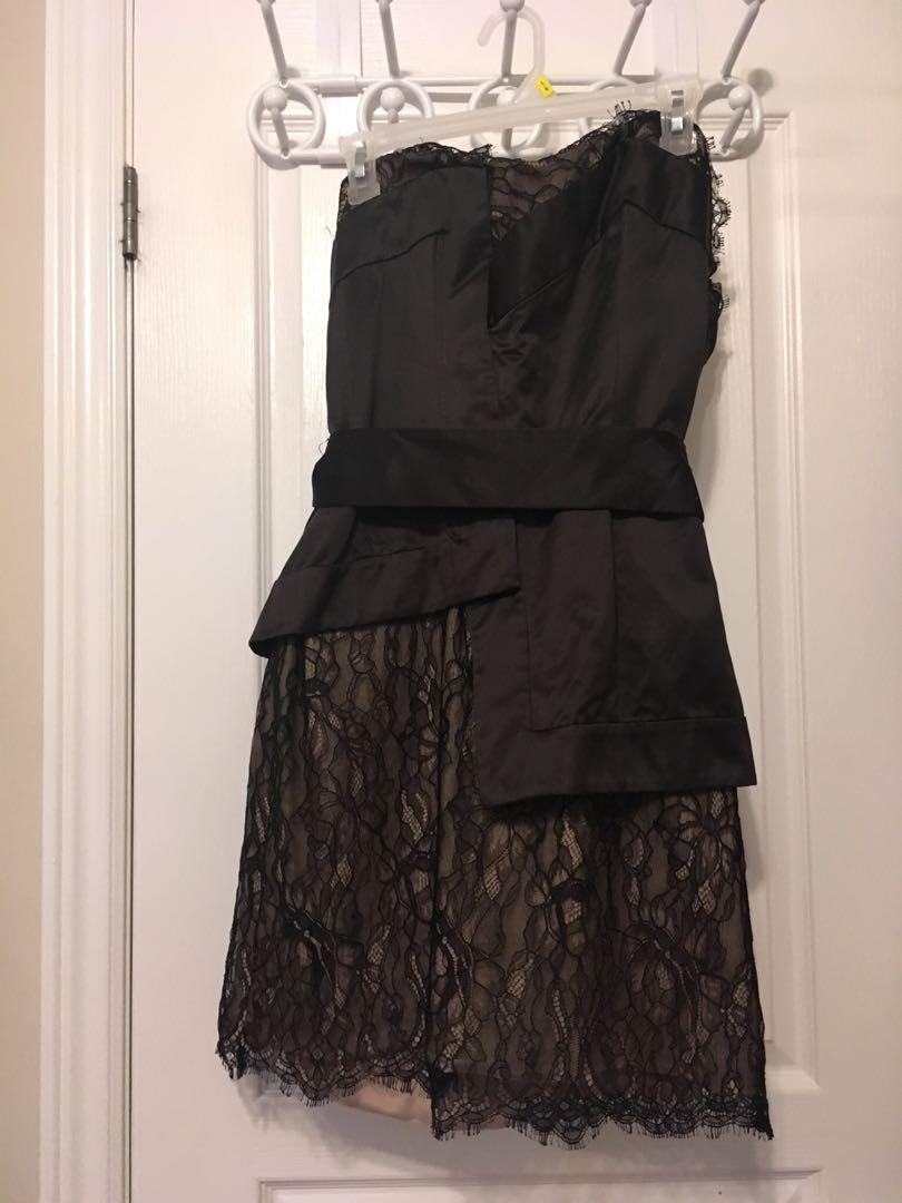 BCBG runway size 12 lace dress with removable sash
