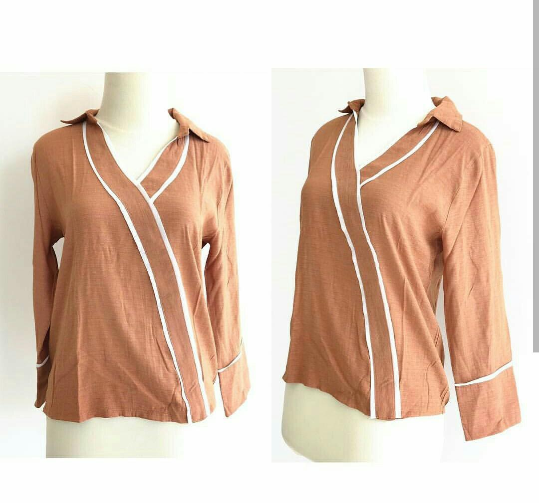 Brown top long sleeves