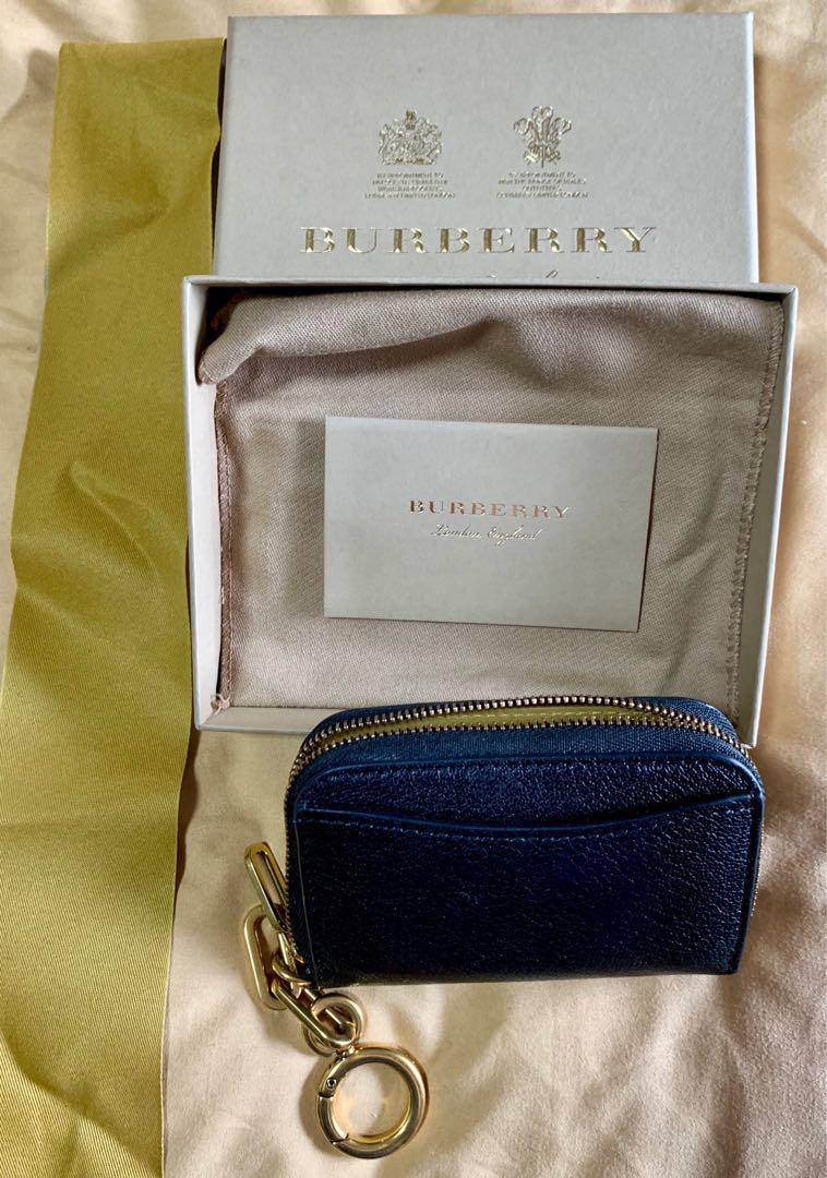 Burberry - Black with gold chain - Zip around Wallet / Cardholder