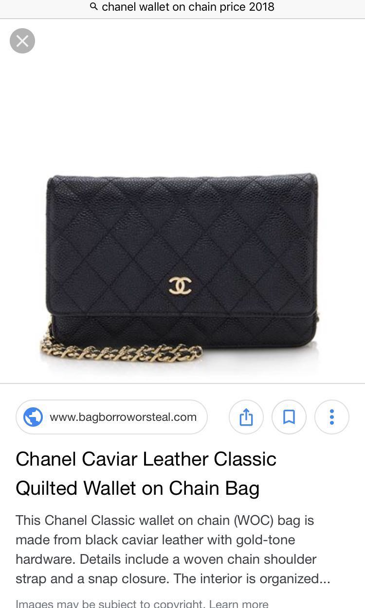 f4db4398a94d Chanel wallet on chain, Women's Fashion, Bags & Wallets, Handbags on ...