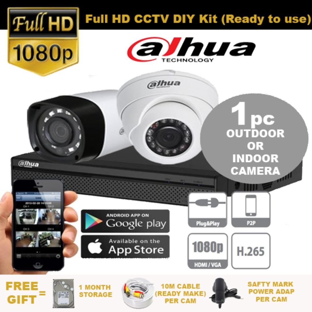 66605d267 HDB CONDO  DaHua HD CCTV Package for 4 Camera Incld Installation ...