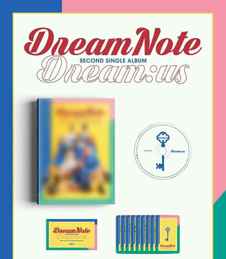 DREAM NOTE - DREAM : US - PREORDER/NORMAL ORDER/GROUP ORDER/GO + FREE GIFT BIAS PHOTOCARDS (1 ALBUM GET 1 SET PC, 1 SET HAS 9 PC)