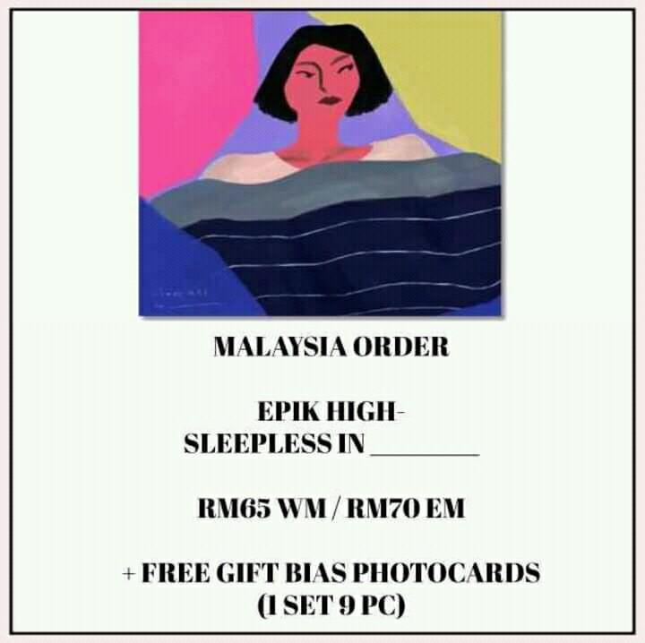 EPIK HIGH - SLEEPLESS IN ______ - PREORDER/NORMAL ORDER/GROUP ORDER/GO + FREE GIFT BIAS PHOTOCARDS (1 ALBUM GET 1 SET PC, 1 SET HAS 9 PC)