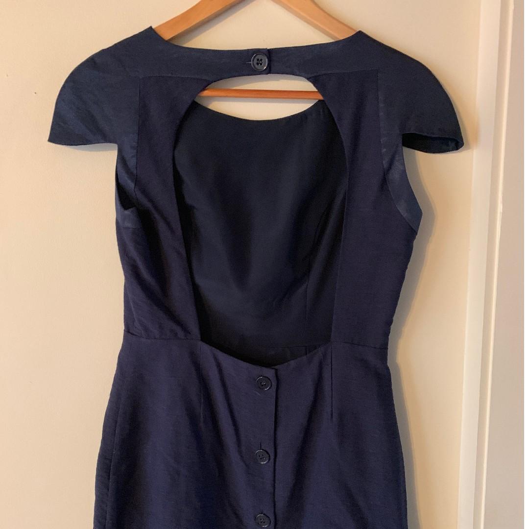 Finders Keepers Navy Blue Mini dress size 10 (Medium)