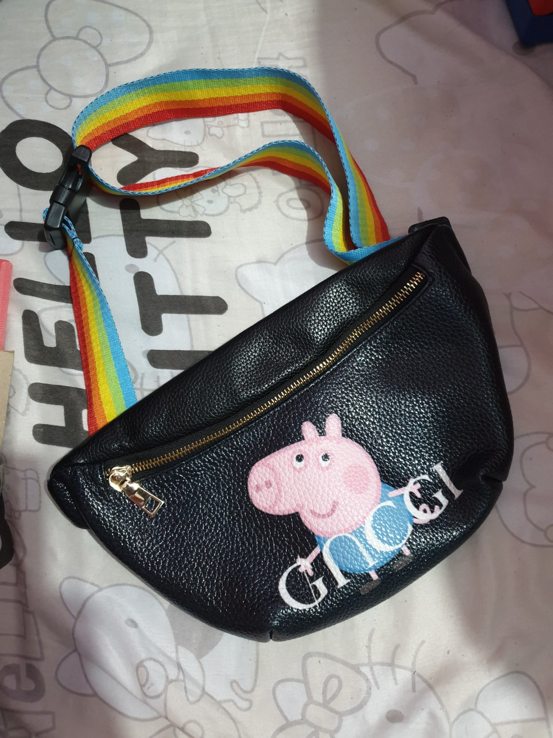 3585be13c1fc Gucci peppa pig, Women's Fashion, Bags & Wallets on Carousell