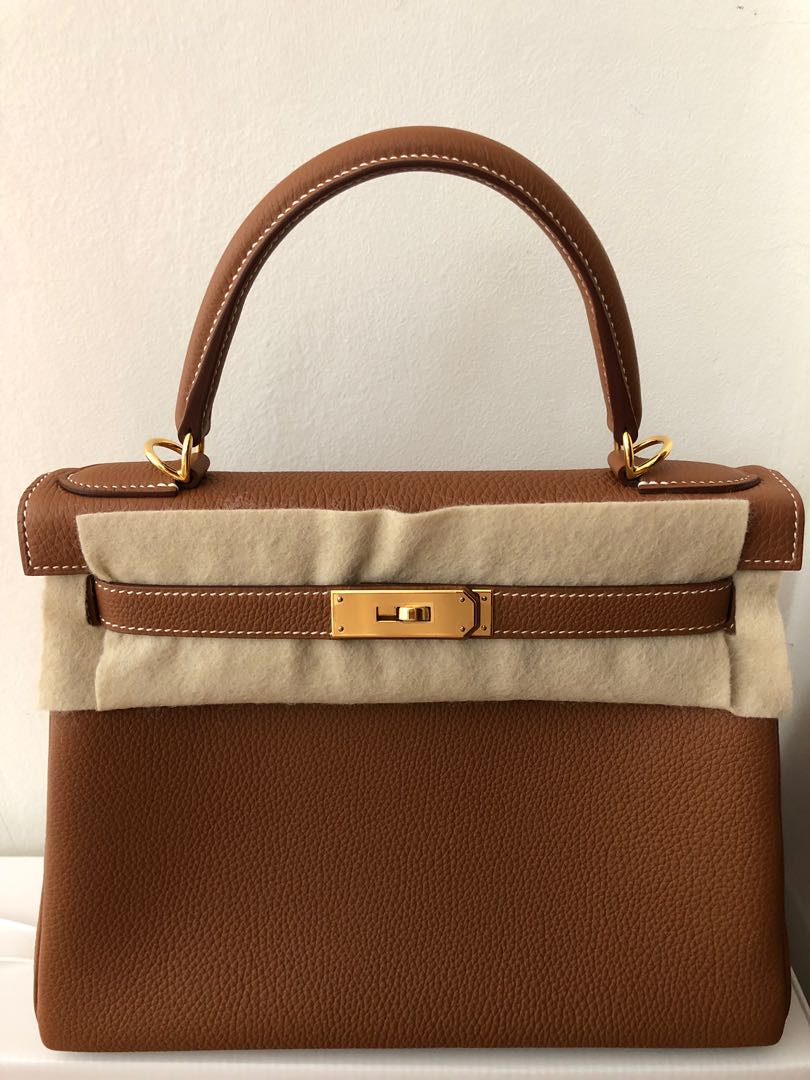 21f0ada0f85b2 Hermes Kelly 28 Togo Gold in GHW brand new, Luxury, Bags & Wallets,  Handbags on Carousell