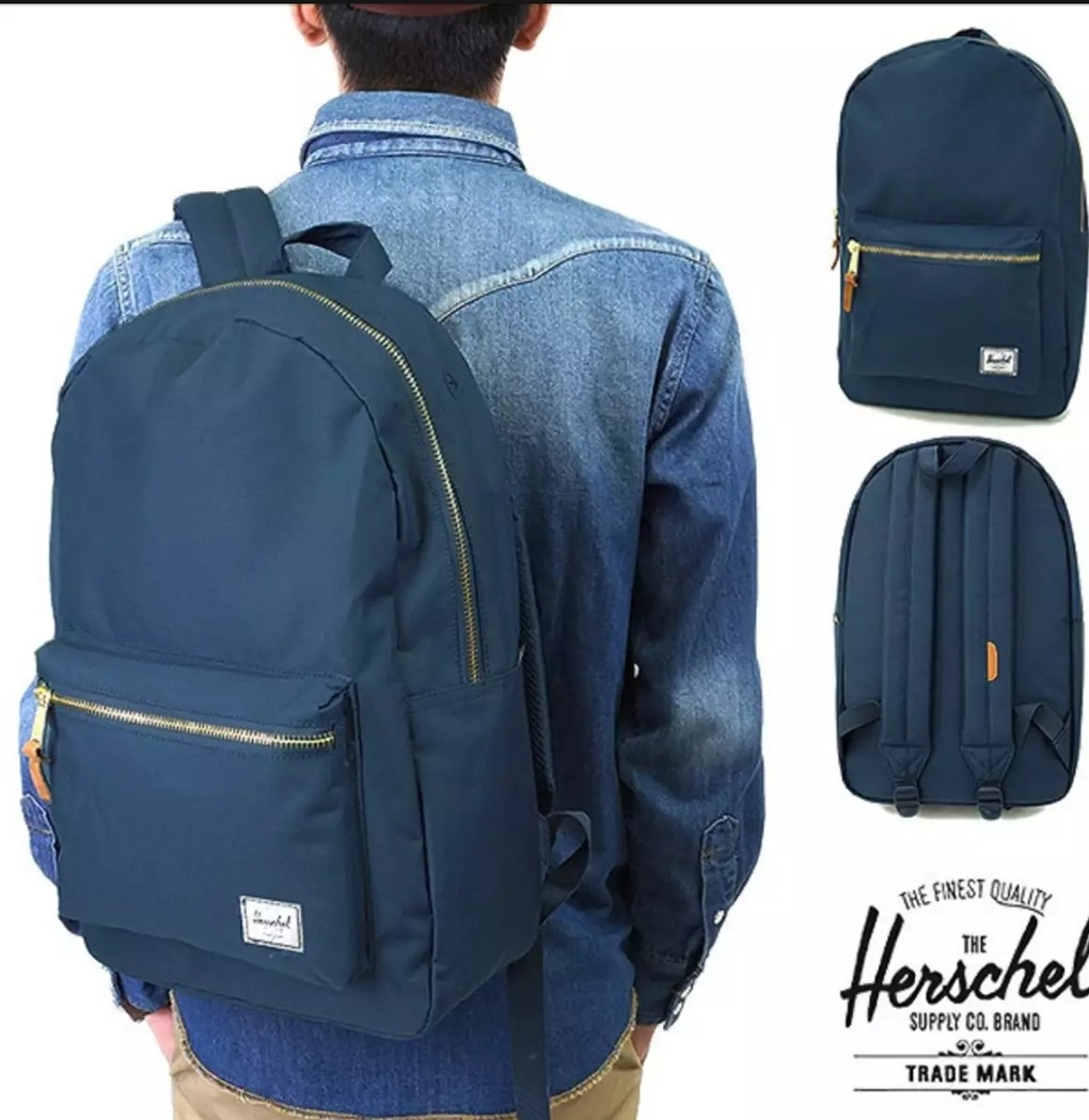 d13abf329 Herschel Co. Settlement Backpack (Navy Blue), Men's Fashion, Bags ...