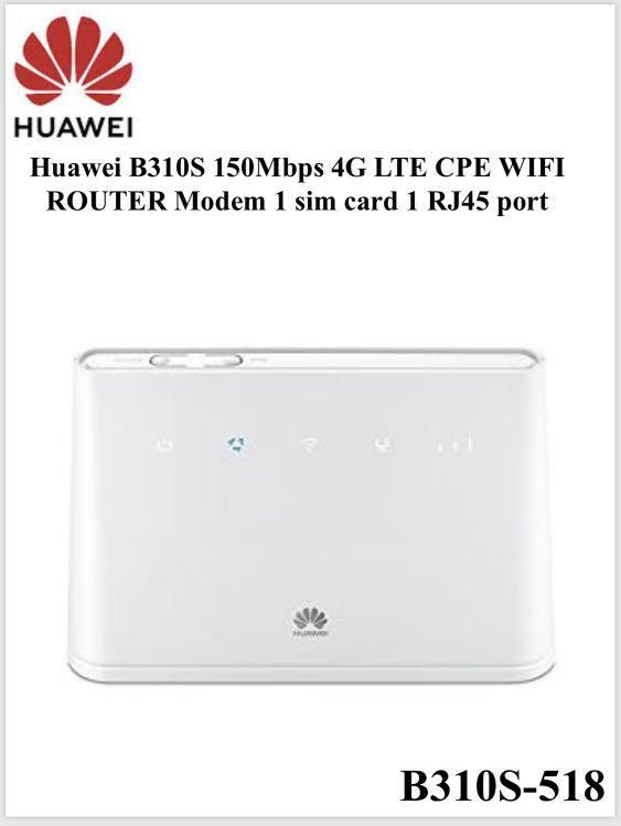 Huawei 4G Sim Card Router - Wireless Huawei 150Mbps 3G/4G