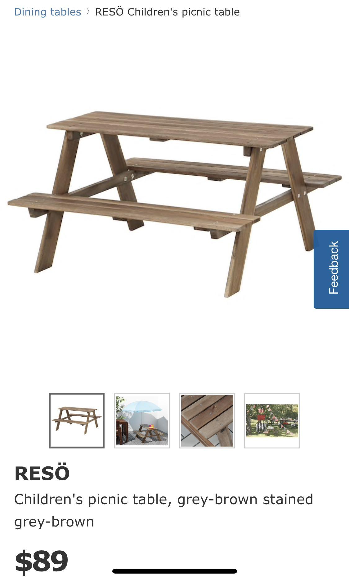 Awe Inspiring Ikea Reso Children Picnic Table Furniture Tables Chairs Unemploymentrelief Wooden Chair Designs For Living Room Unemploymentrelieforg