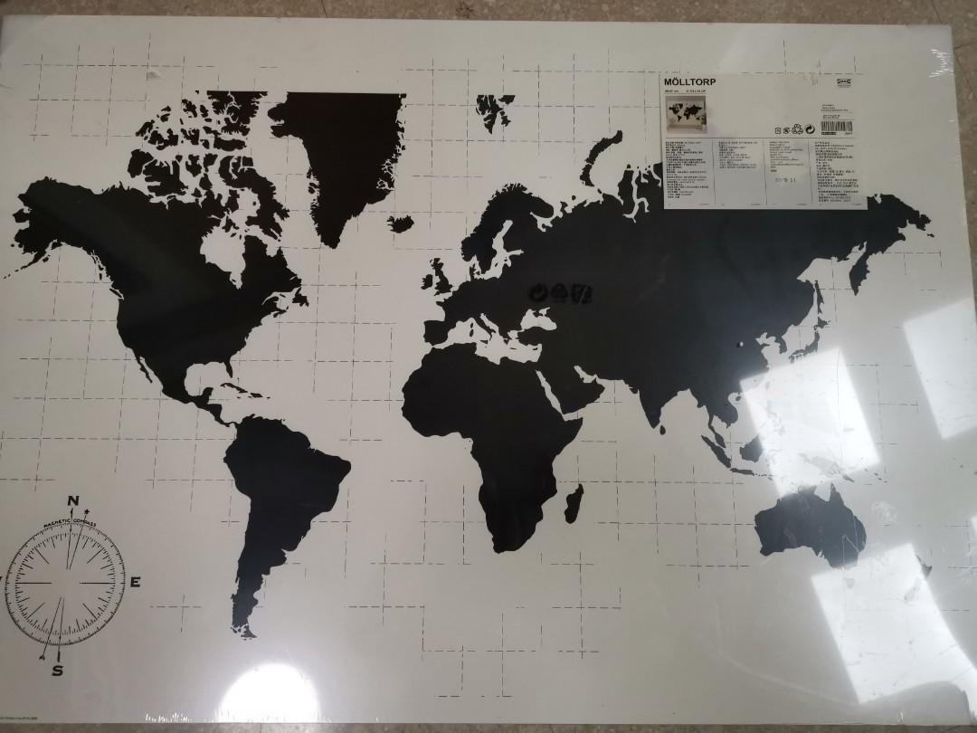 Ikea world map, Furniture, Others on Carousell