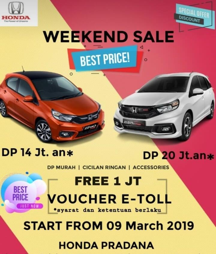 JABODETABEK ONLY!! The Very Best Offer from Honda Pradana