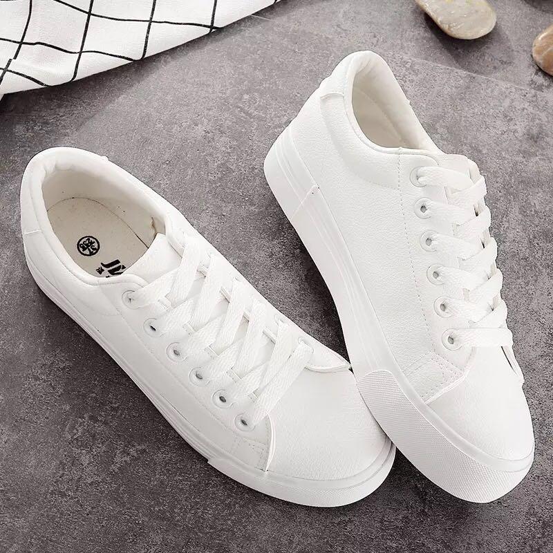 Korean style white shoes, Women's