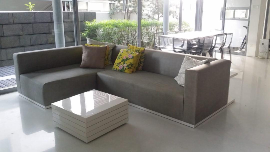 L Shape Leather Sofa Furniture Sofas On Carousell