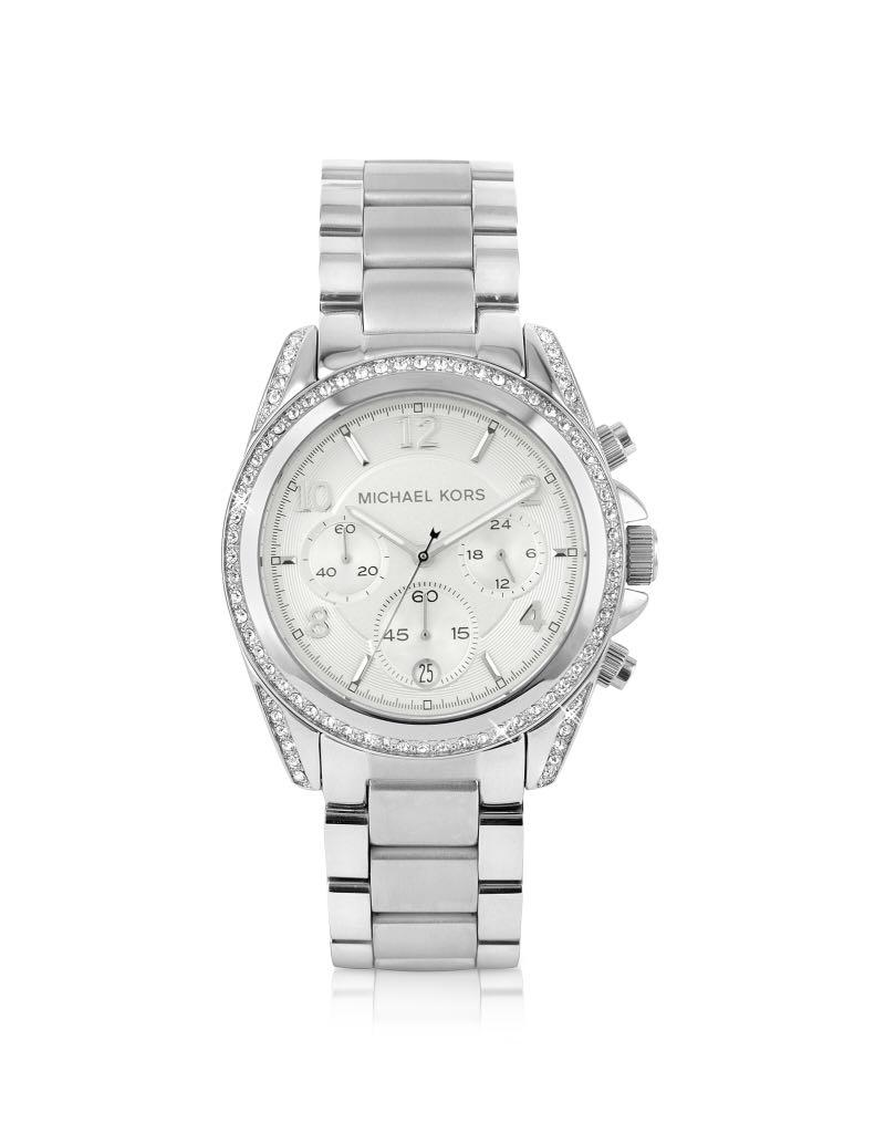 Michael Kors Silver Runway Watch Glitz metallic watch
