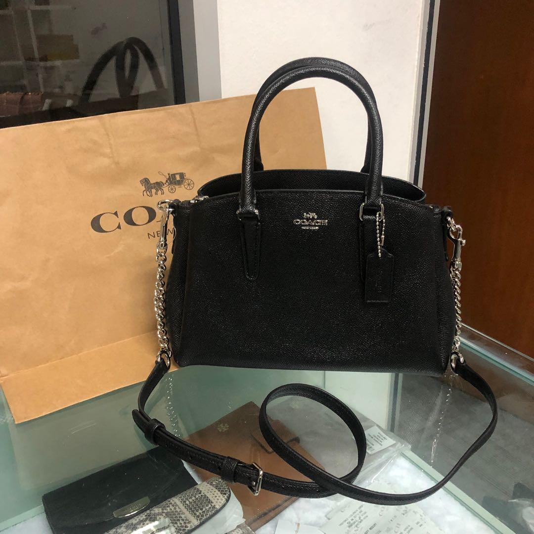 864da787d New arrival Coach mini sage carryall crossbody bag black with silver ...
