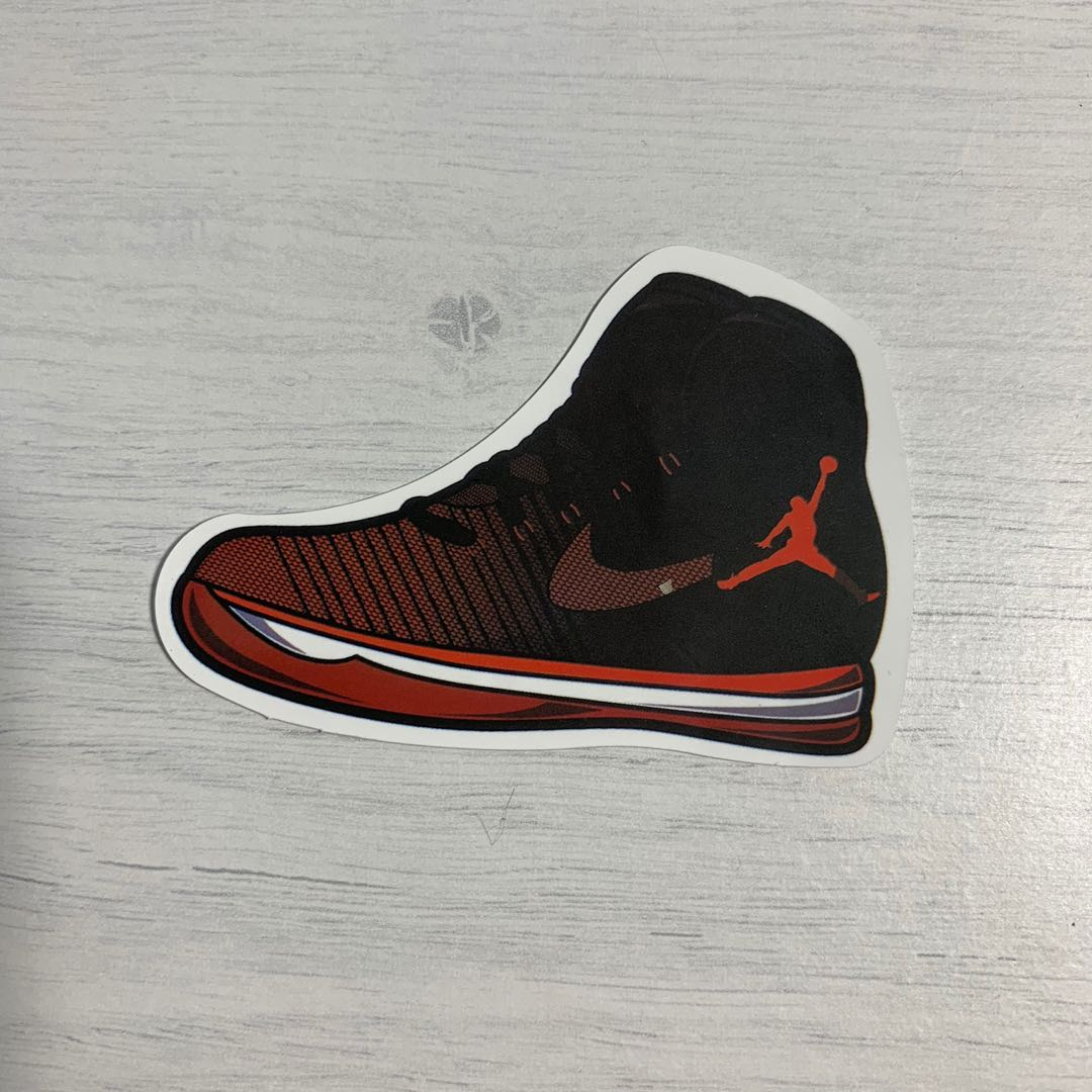 "cff71f7d7f7ee6 Nike Air Jordan 31 ""banned"" Sneakers Waterproof Stickers"