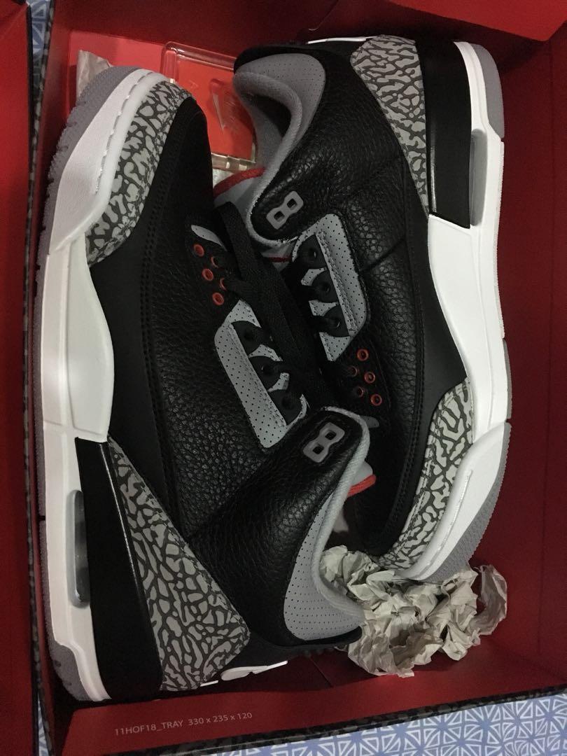 check out 1e969 a1fc7 Nike Air Jordan 3 Retro OG (US9   UK8   Eur42.5) black fire red ...