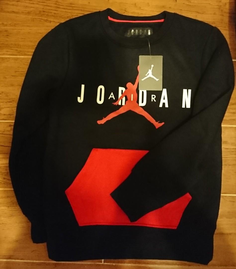 b99e4c2b4bef68 男童Air Jordan sweater 衞衣Boys  Jumpman Fleece Crewneck Sweatshirt ...