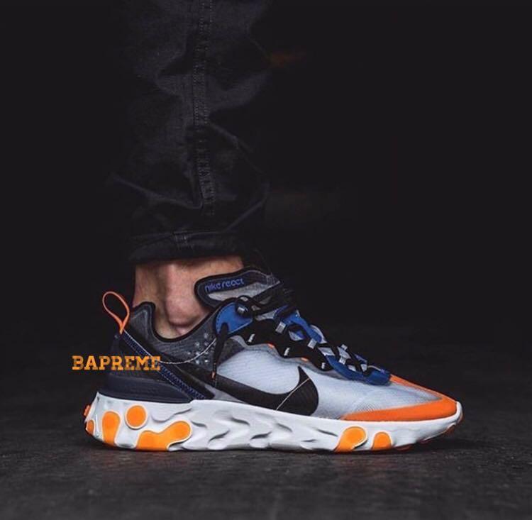 c12ff25e34ef Nike React Element 87 Total Orange Wolf Grey Thunder Blue