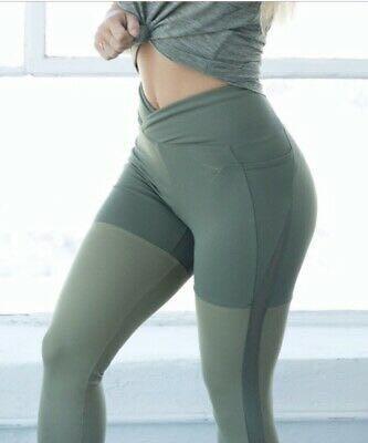 Nikki Blackketter x Gymshark Khaki leggings