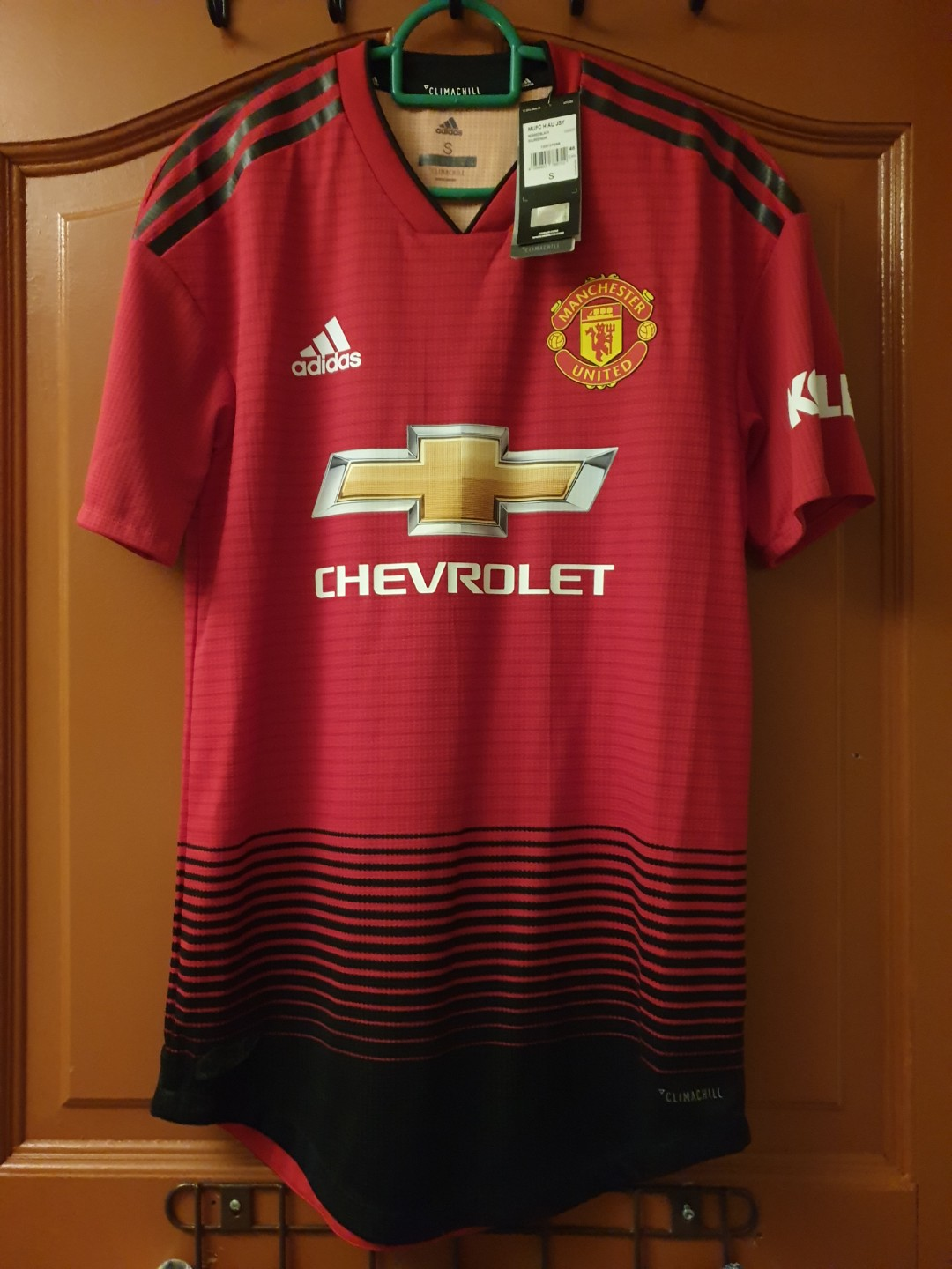 bf9362a4bb9 Official Authentic Climachill Manchester United 17 18 Home Kit ...