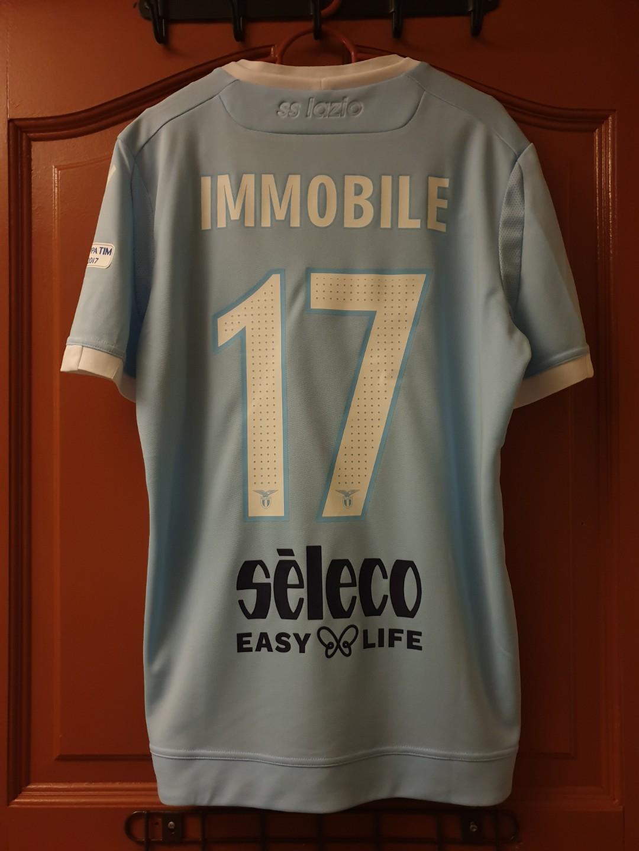 547c99850f9 Official Macron SS Lazio 16 17 Coppa Italia Final Kit  IMMOBILE 17 ...