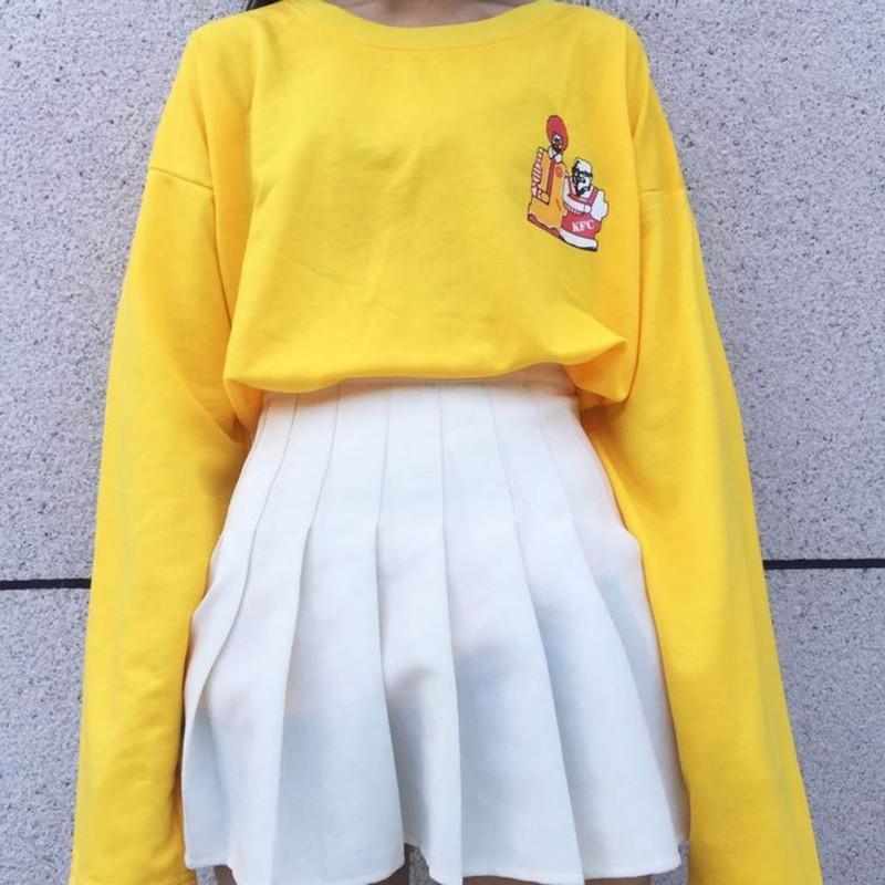 [PO] Yellow Ulzzang Pullover