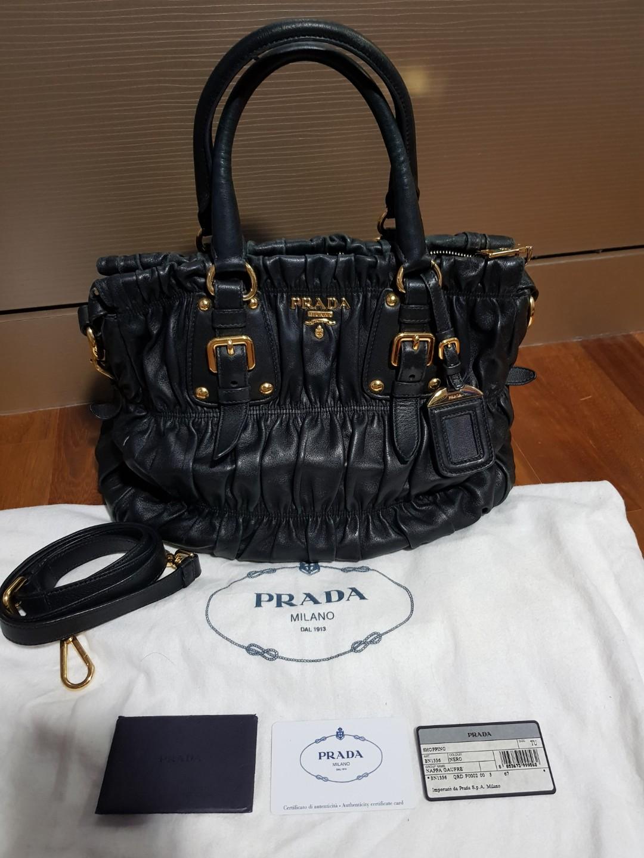 dd8a94fb4bbc Prada Nappa Gaufre BN1336 NERO, Luxury, Bags & Wallets, Handbags on ...