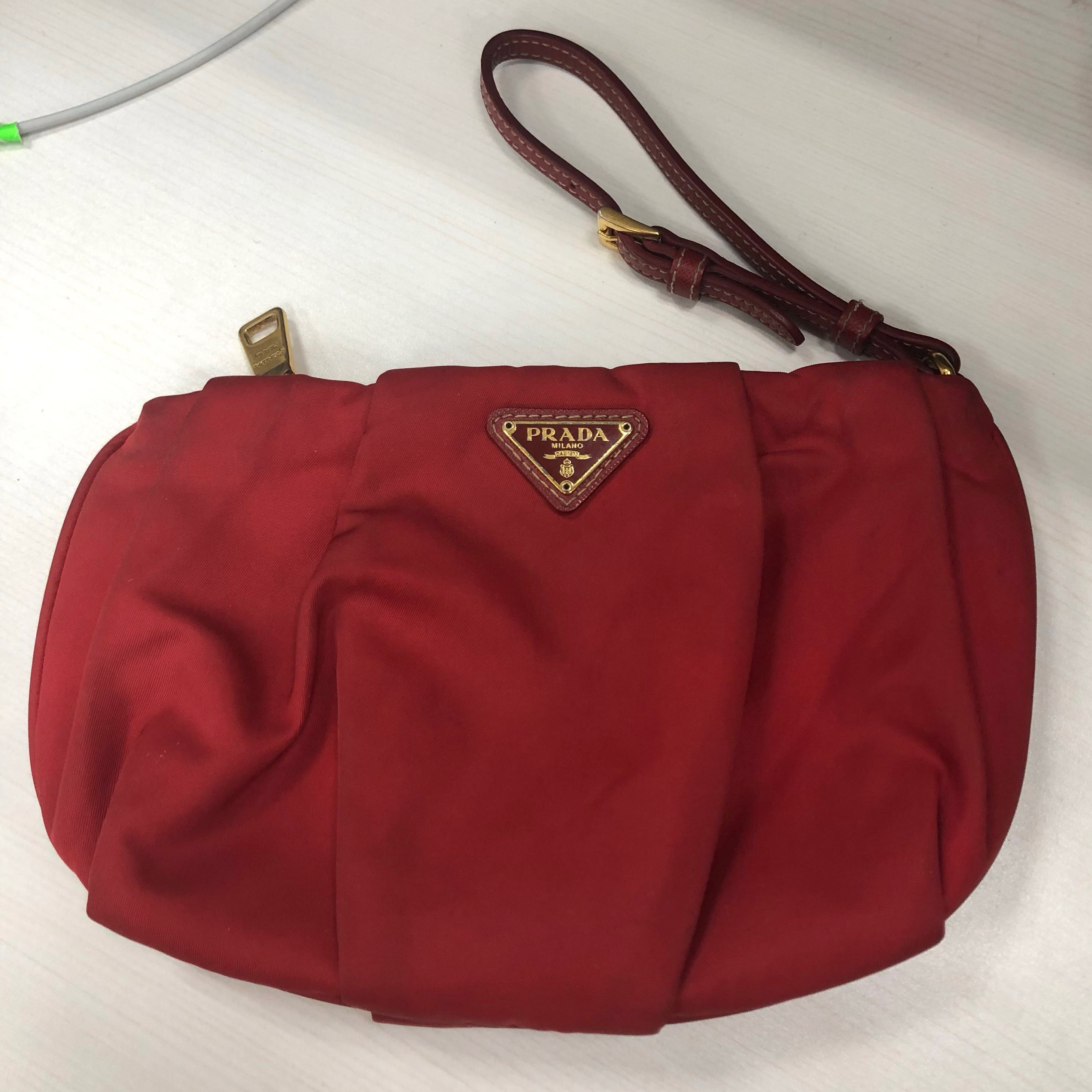 3a3ca2125de2 Prada Wristlet, Luxury, Bags & Wallets, Others on Carousell