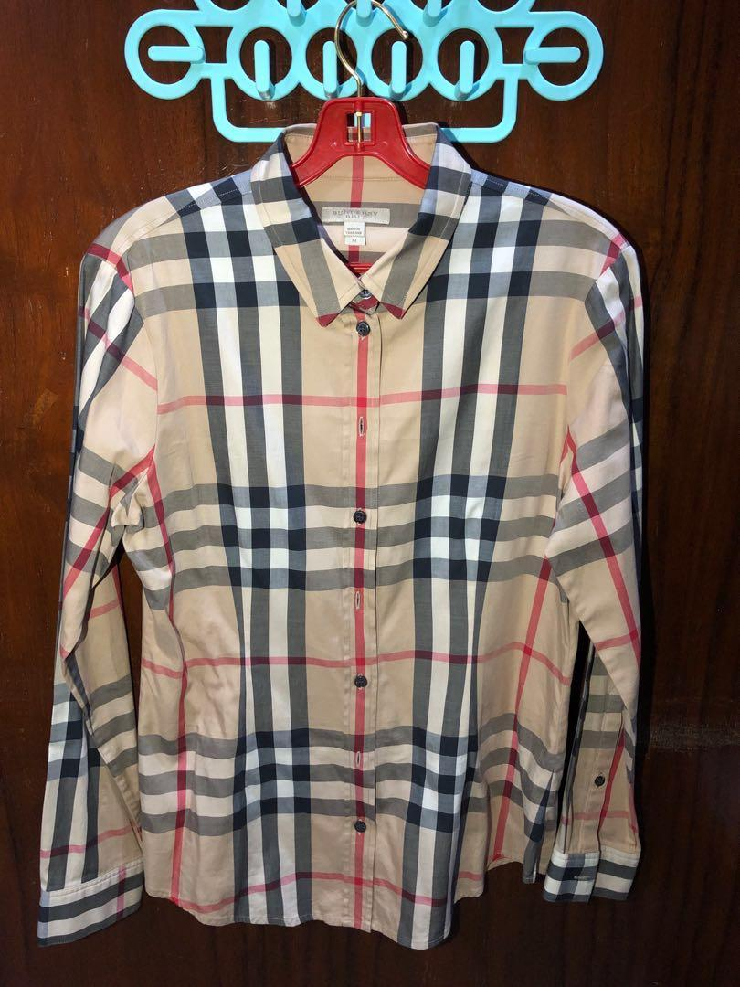 Pre-Loved 100% Authentic Burberry Long Sleeves Shirt for Women. Perfect Condition 👍🏻
