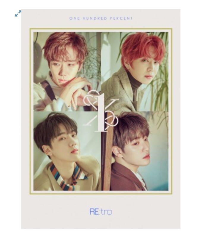 [Preorder] 100% 6th Mini Album - RE:tro CD + Poster