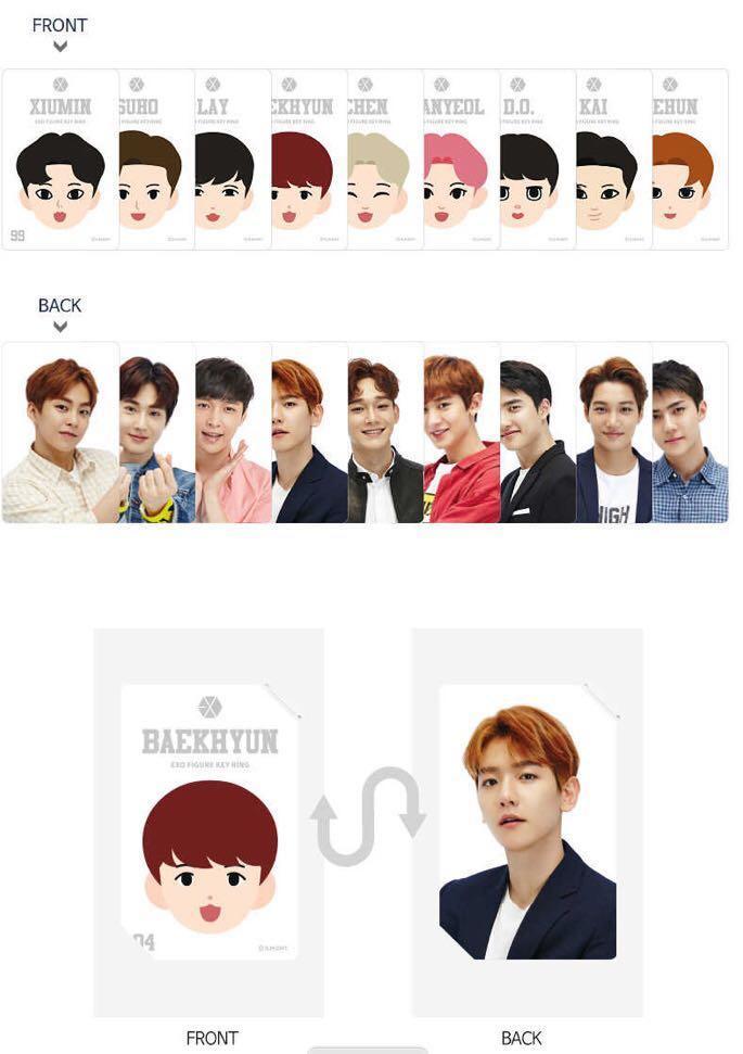 [PRE-ORDER] EXO Figure Keyring + photocard + mirror pocket (choose member)