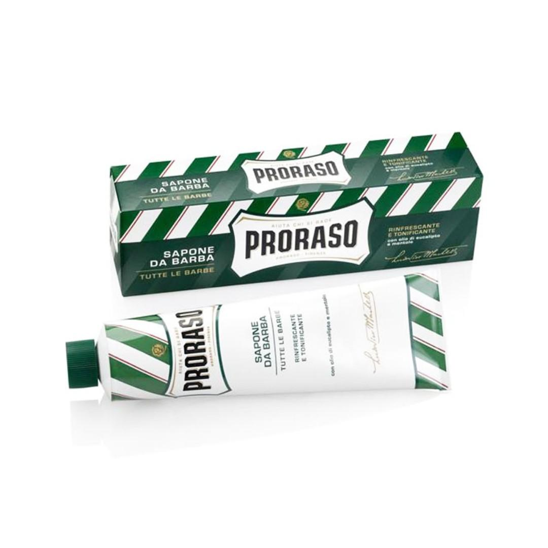 Proraso Green Shaving Cream in a Tube 150ml - Menthol and Eucalyptus - SG Pomades Mens Grooming