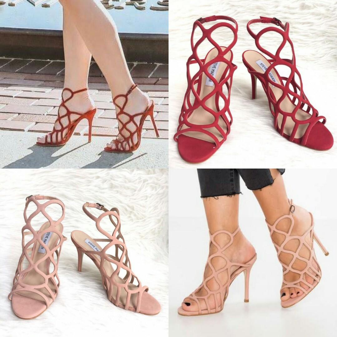 READY Steve Madden Teagan Heels 10cm  • Blush size 7.5 • Red size 9 Complete box