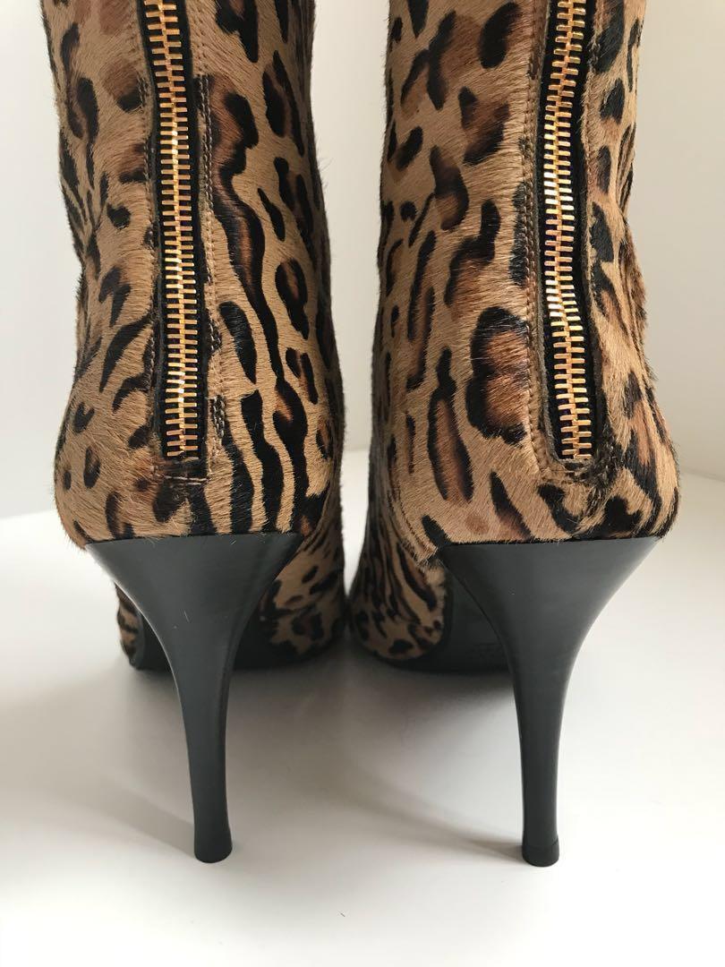 Reduced again! Stuart Weitzman Genuine Baby Leopard boots size 9