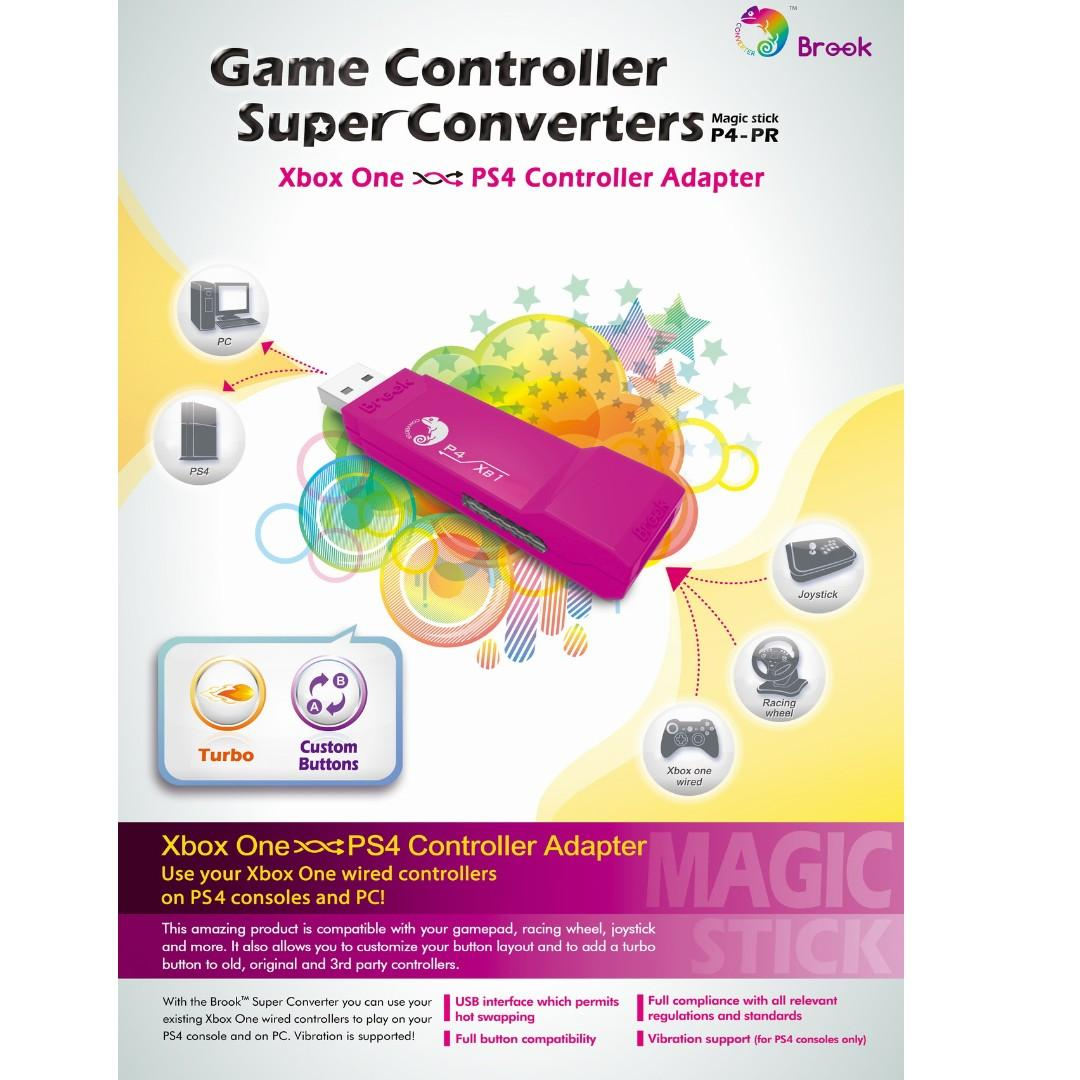 SG Seller Brook Design - P4-PR Game Controller Super Converters Xbox One to PS4