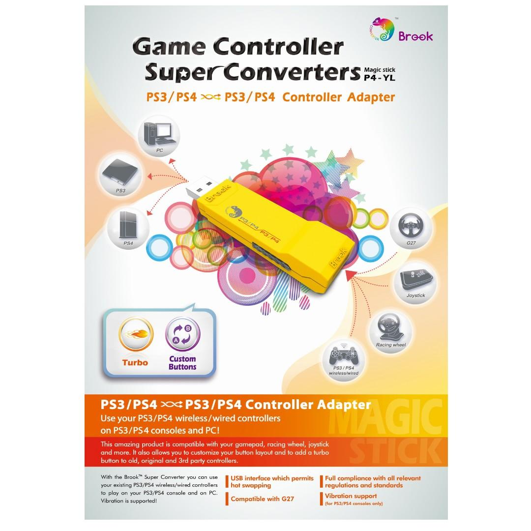 SG Seller Brook Design - P4-YL Game Controller Super Converters PS3/PS4 to PS3/PS4