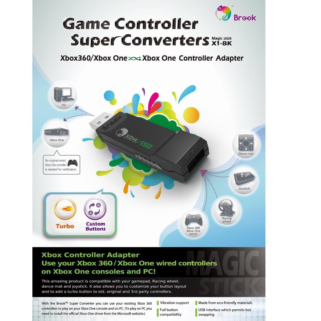 SG Seller Brook Design - X1-BK Game Controller Super Converters