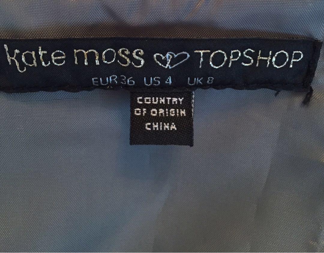 Topshop Kate Moss sequins silver grey cocktail dress