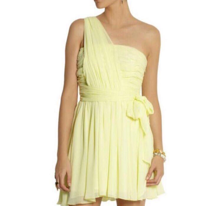 a882065a Topshop Kate Moss sheer chiffon toga cocktail yellow dress, Women's ...