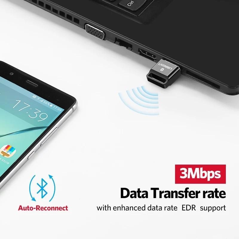 UGREEN Mini USB V 4.0 Wireless Bluetooth Dongle Compatible with Windows PC