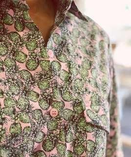 韓國品牌 Made in Korea Pineapple Shirt 長袖圖案恤