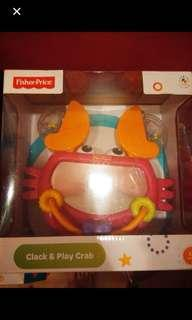 Fisher Price Clack & Play Crab Mirror