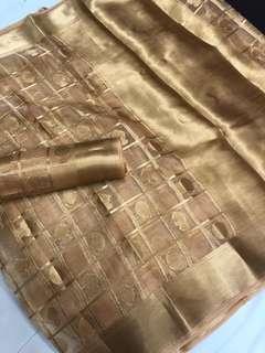 🚚 Organza tissue Silk Saree