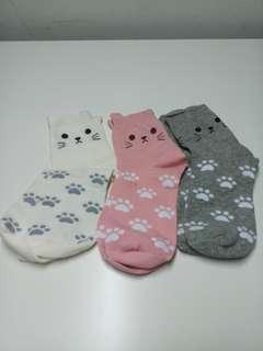 Cute cat high socks