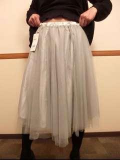 日本品牌 Japan Retro Girl Sasa Rubber Waist Skirt