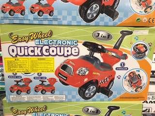 Easy wheel electronic quick coupe