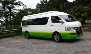 Van rental Singapore to Melaka